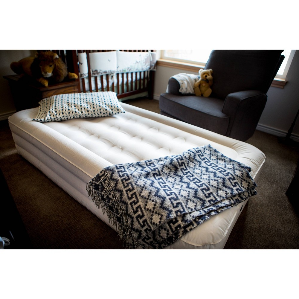 """Image of """"Insta-Bed 14"""""""" Air Mattress with External AC Pump & Neverflat Fabric - Twin, Adult Unisex, Gray"""""""
