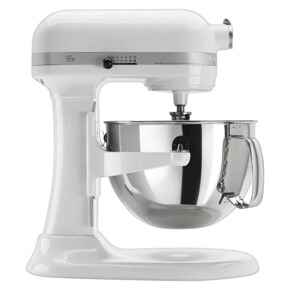 KitchenAid Professional 600 Series 6-Quart Bowl-Lift Stand Mixer – KP26M1X, White 10575647