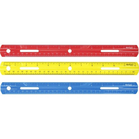 """Acme Plastic Ruler Grooved Plastic 12""""Long Assorted 10526 - image 1 of 1"""