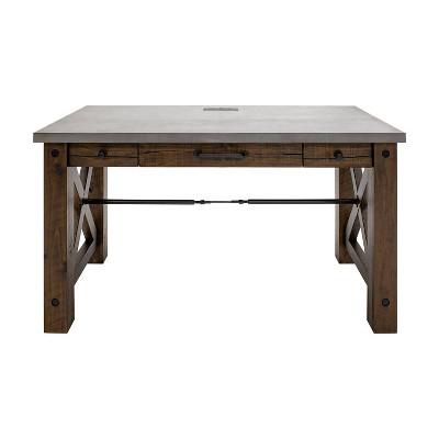"""54"""" Jasper Writing Desk Brown - Martin Furniture"""