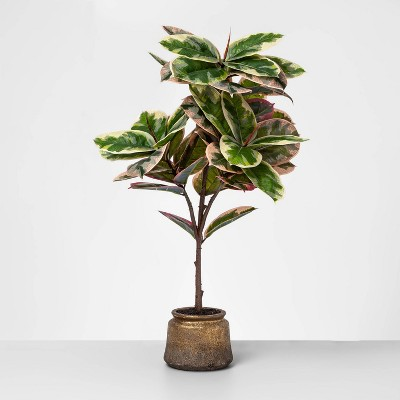 39  x 22  Artificial Potted Tree Plant Green/Pink - Opalhouse™