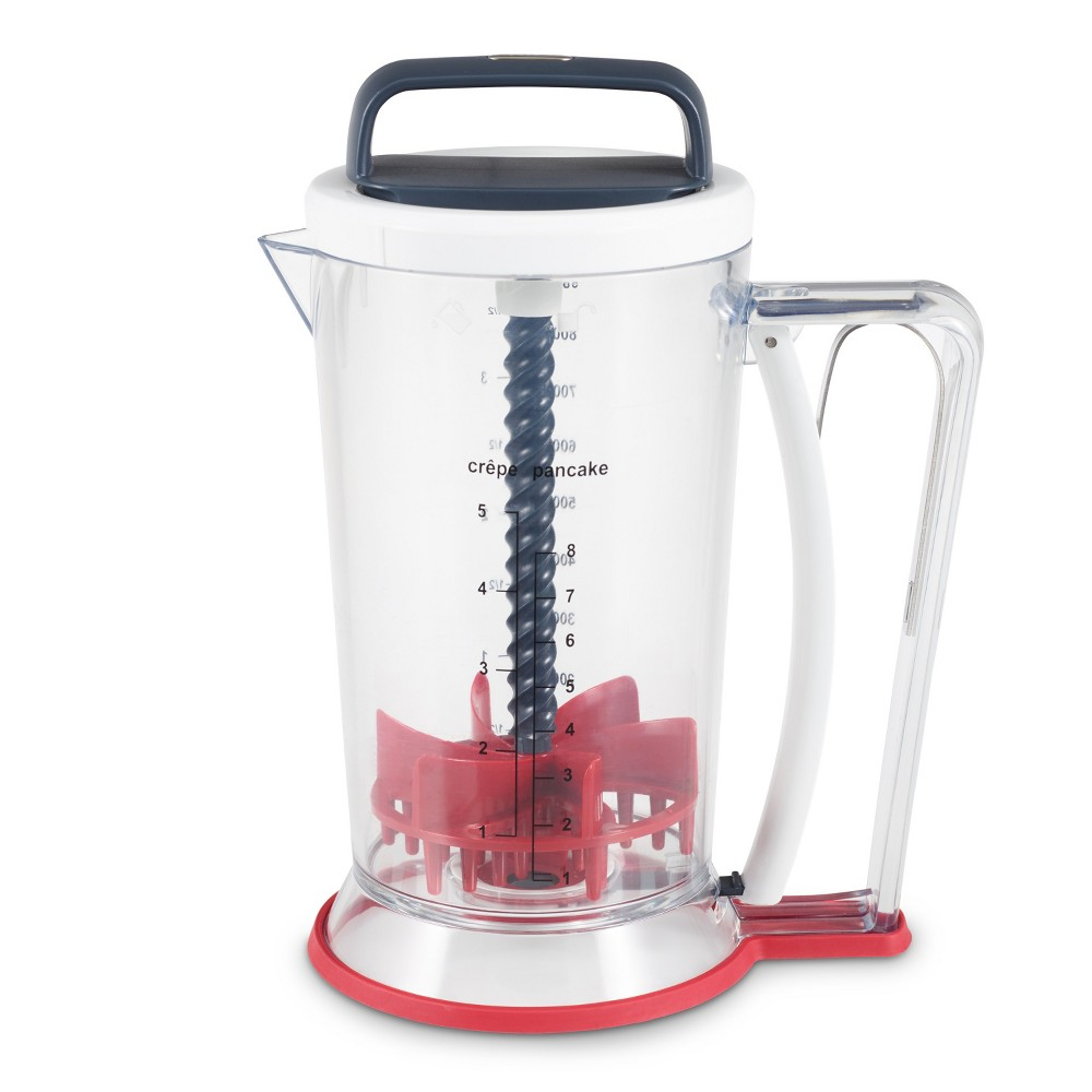 Image of Zyliss Smooth Blend Mixer and Dispenser, Clear Red Black