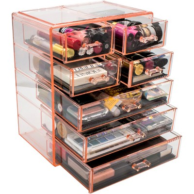 Sorbus Acrylic Cosmetic Makeup and Jewelry Storage Case Display (3 Large/4 Small Drawers)