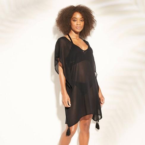 Women's Lattice Back Chiffon Kaftan Cover Up Dress - Kona Sol™ - image 1 of 1