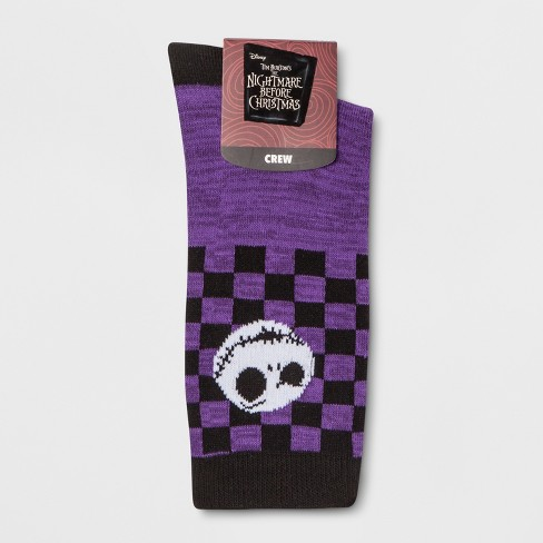 womens disney the nightmare before christmas crew socks purple one size target