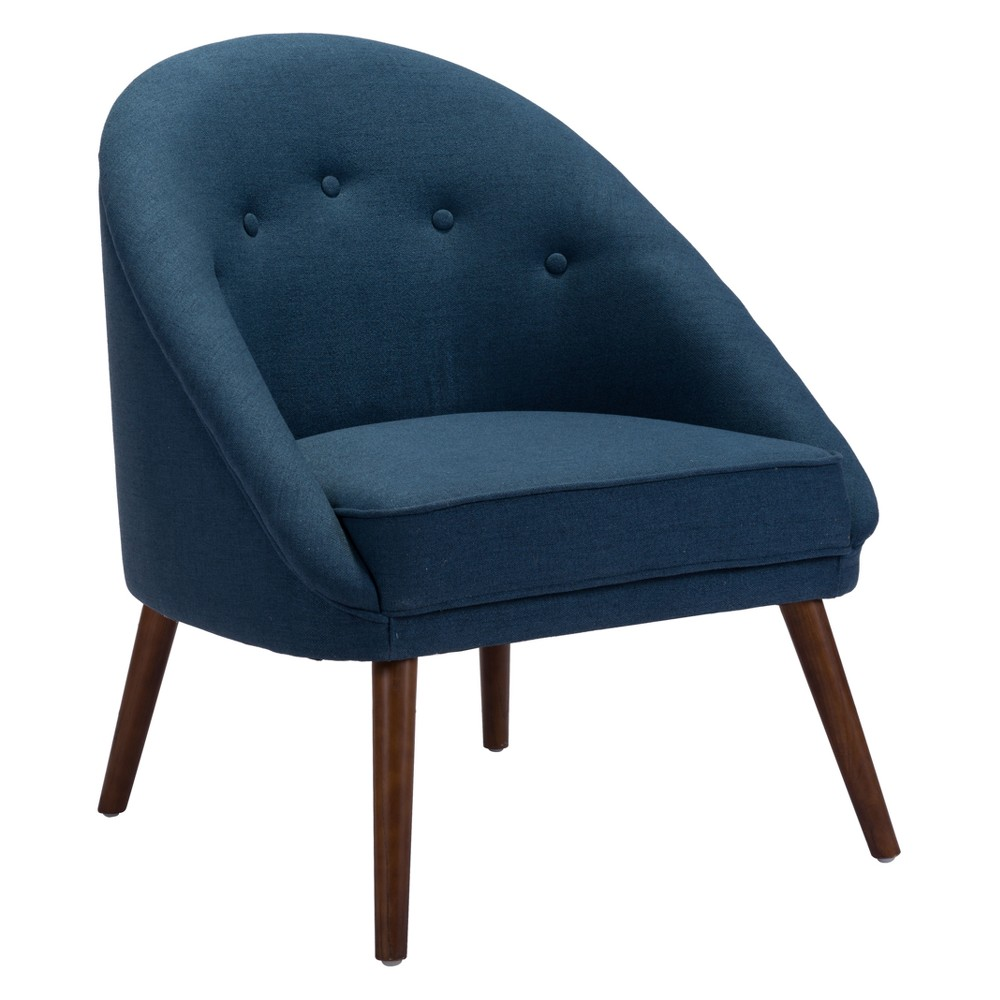 Modern Curved Occasional Chair Cobalt Blue - ZM Home