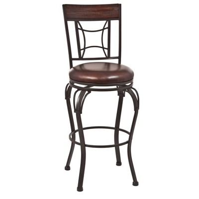 "30"" Granada Swivel Barstool Chestnut/Brown - Hillsdale Furniture"