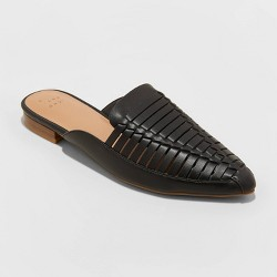 Women's Blair Faux Leather Woven Mules - A New Day™