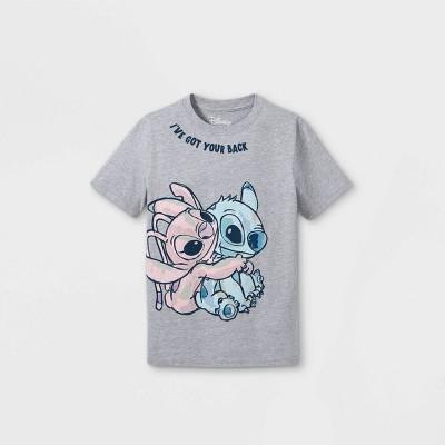 Girls' Disney Lilo & Stitch Short Sleeve Graphic T-Shirt - Gray - Disney Store