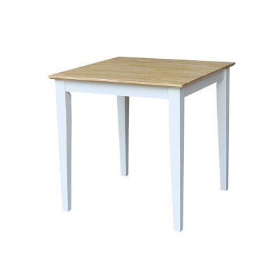 Solid Wood Square Dining Table White - International Concepts
