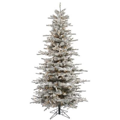 Vickerman Flocked Sierra Fir Artificial Christmas Tree