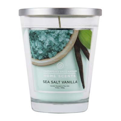 11.5oz Glass Jar Candle Sea Salt Vanilla - Home Scents By Chesapeake Bay Candles
