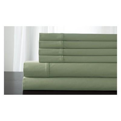 Queen 800 Thread Count 6pc Kerrington Cotton Sheet Set Sage - Elite Home Products