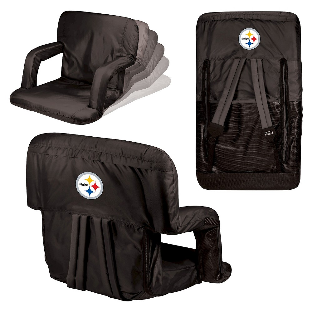 Pittsburgh Steelers Ventura Seat Portable Recliner Chair By Picnic Time