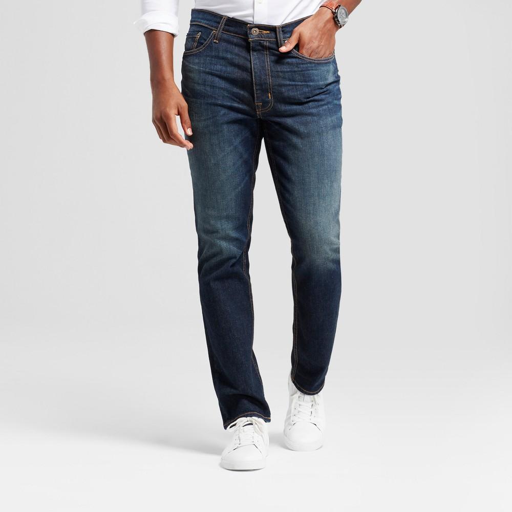 Men's Athletic Fit Jeans - Goodfellow & Co Dark Vintage Wash 32x30, Blue
