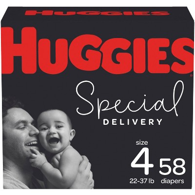 Huggies Special Delivery Hypoallergenic Diapers Super Pack - Size 4 (58ct)