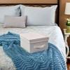 Household Essentials Canvas Cube Storage Box Natural Medium - image 3 of 4