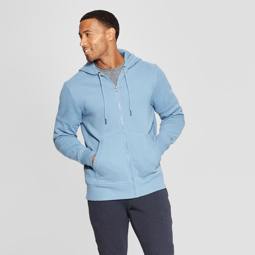 Men's Cotton Fleece Full Zip - C9 Champion Blue Mylar S