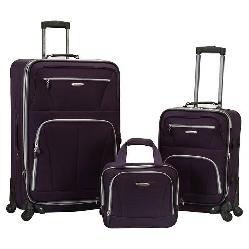 Rockland Pasadena 3pc Expandable Luggage Set - Purple - image 1 of 1