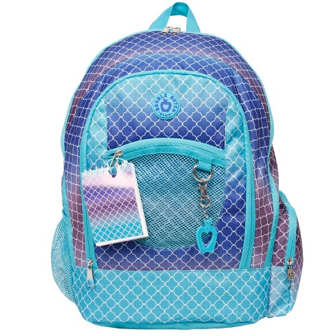 "DDC 18"" Geo Print Backpack - Blue - image 1 of 9"