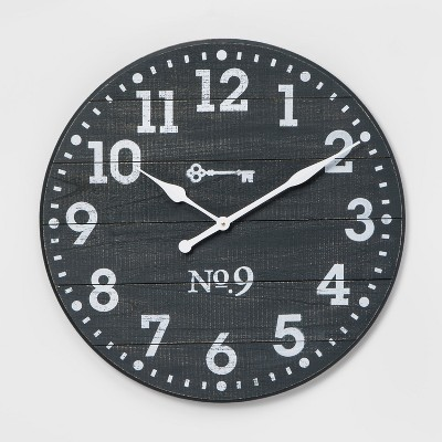 26  Farmhouse Wall Clock Blue - Threshold™