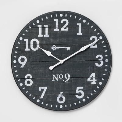 "26"" Farmhouse Wall Clock Blue - Threshold™"