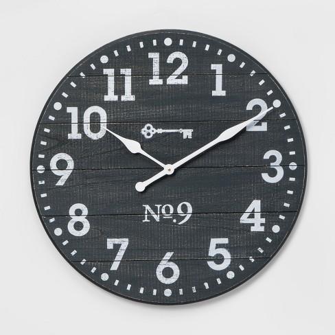 "26"" Farmhouse Wall Clock Blue - Threshold™ - image 1 of 2"