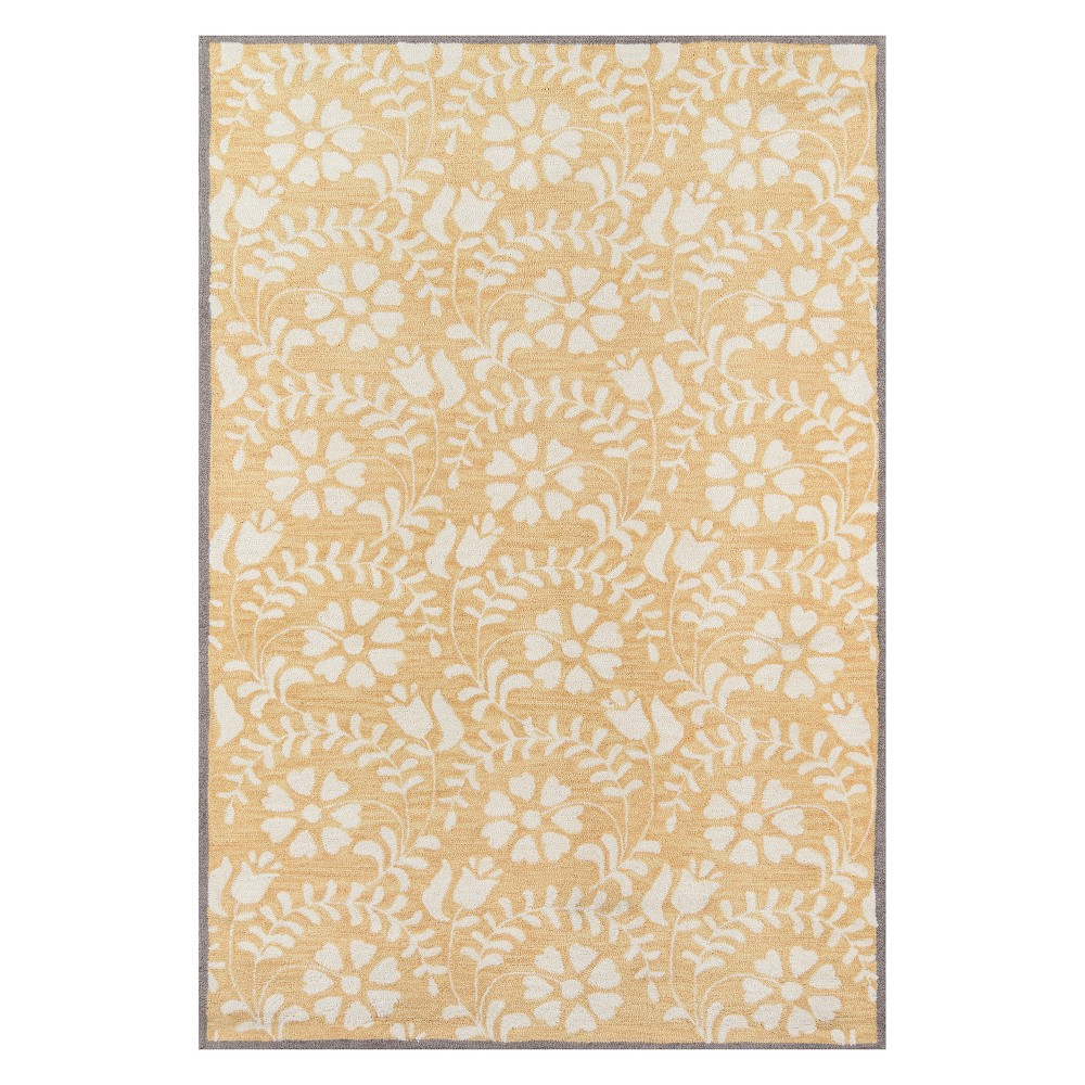 2'X3' Floral Tufted Accent Rug Yellow - Momeni
