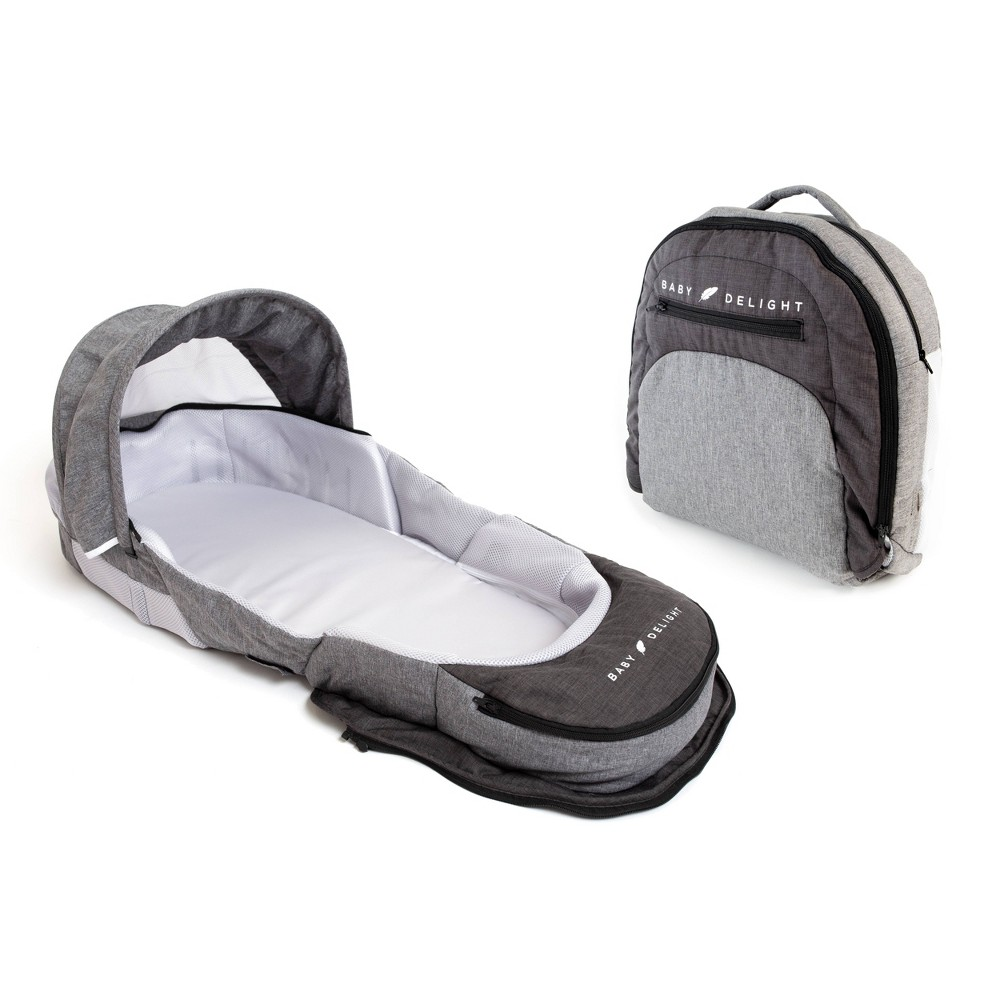 Image of Baby Delight Snuggle Nest Adventure - Charcoal Gray