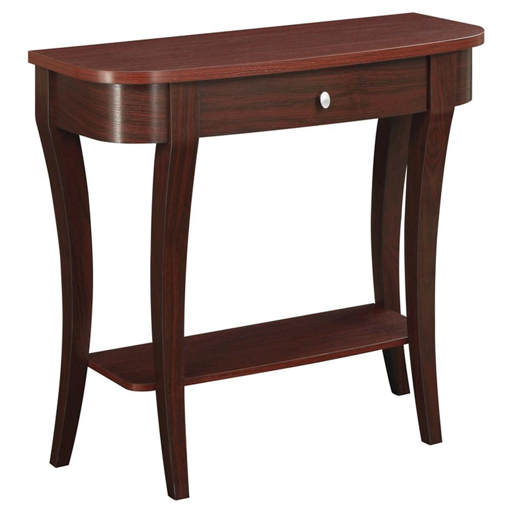 Convenience Concepts Newport Console Table - Mahogany (Brown)