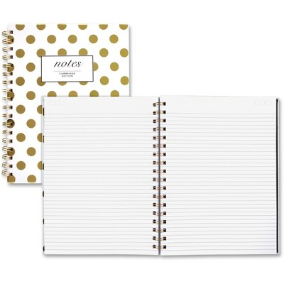Cambridge Gold Dots Hardcover Notebook 9 1/2 x 7 80 Sheets 59016