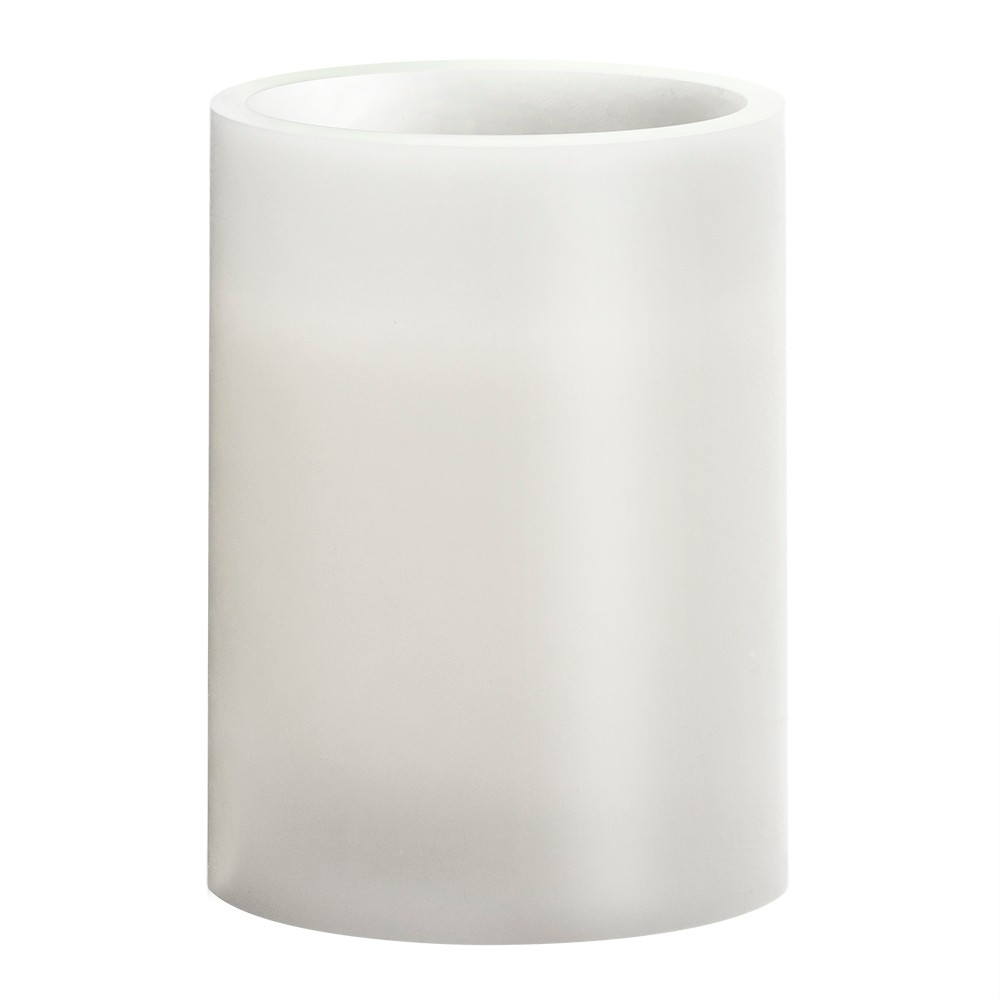 """Image of """"3"""""""" x 4"""""""" Vanilla Scented LED Pillar Candle White - Made By Design"""""""