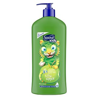 Suave Kids 3-in-1 Body Wash, shampoo And Conditioners- Apple - 18 fl oz