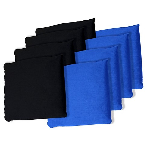 Black and Blue Cornhole Bags, Set of 8 - image 1 of 1