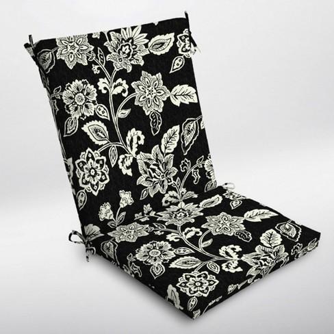 Ashland Jacobean Clean Finish Outdoor Chair Cushion Black White