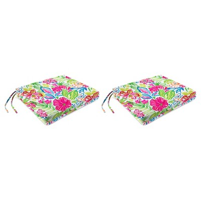 Outdoor Set Of 2 French Edge Seat Cushions In Valeda Island  - Jordan Manufacturing