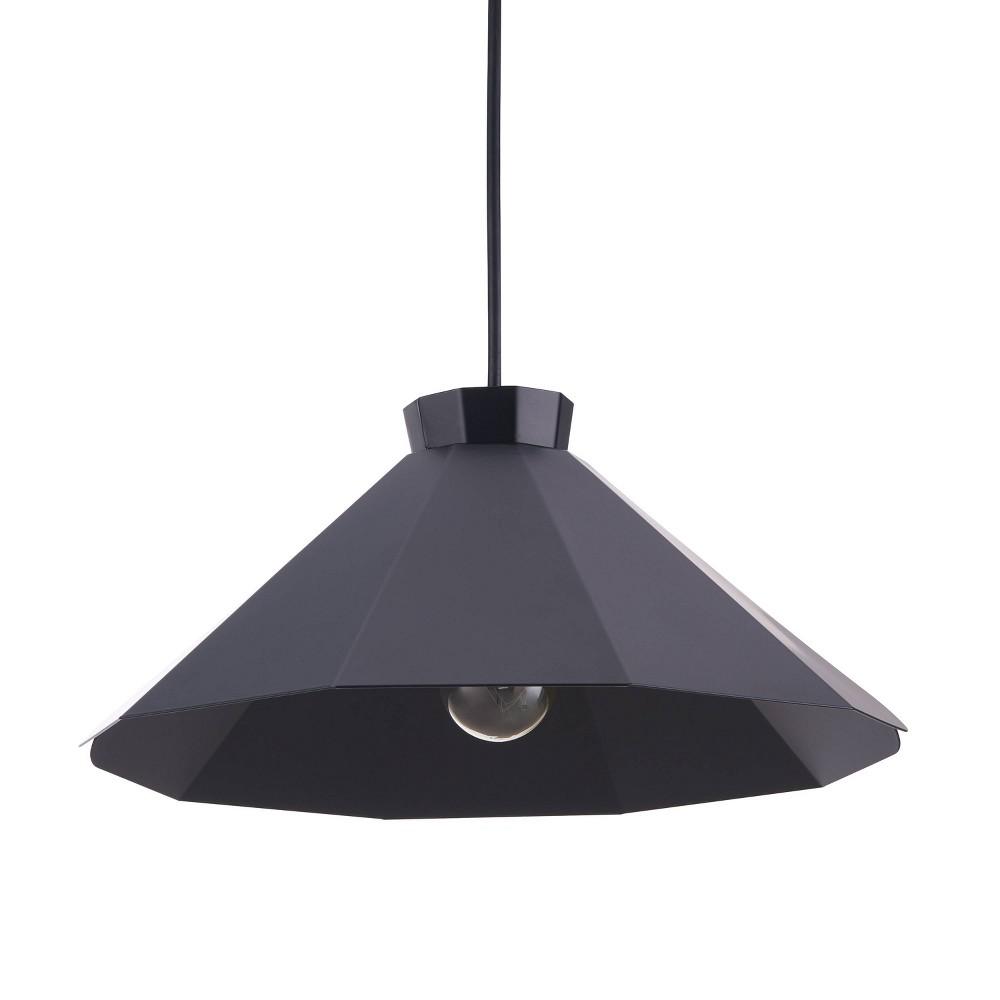 Maiburgh Midcentury Modern Pendant Lamp Black (Lamp Only) - Aiden Lane