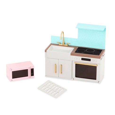 "Lori Dollhouse Furniture for 6"" Dolls - Backsplash Urban Kitchen - image 1 of 3"