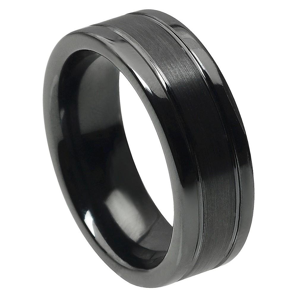 Men's Daxx Ceramic Band - Black (8.5) (8mm)