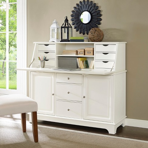 Sullivan Secretary Desk White - Crosley - image 1 of 13