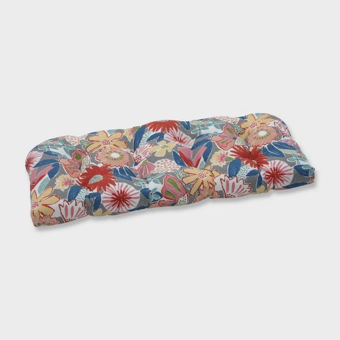 Catching Rays Poppy Wicker Outdoor Loveseat Cushion Gray - Pillow Perfect - image 1 of 1
