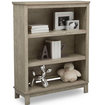 Delta Children Farmhouse Bookcase/Hutch - Textured Limestone