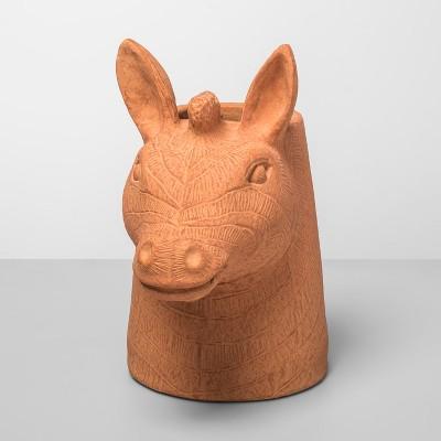 11  x 6.5  Zebra Shaped Terra Cotta Vase - Opalhouse™