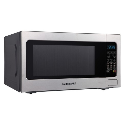 Farberware 2 Cu Ft 1200 Watt Professional Microwave Oven With Smart Sensor Cooking Stainless Steel Fmo22abtbka Target