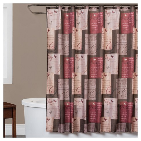Grace Fabric Shower Curtain Red