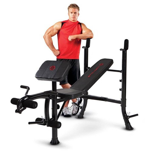 Marcy Pro Mkb-367Rh Versatile Standard Weight Bench For Racks And Home Gyms