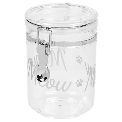 IRIS Cat Treat Jar - Silver