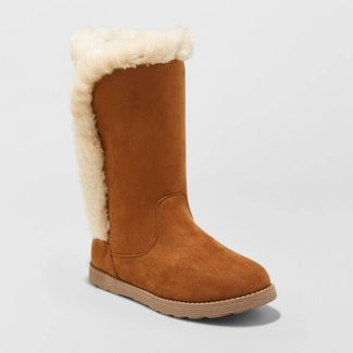 Girls' Hart Shearling Boots - Cat & Jack™ Chestnut 2