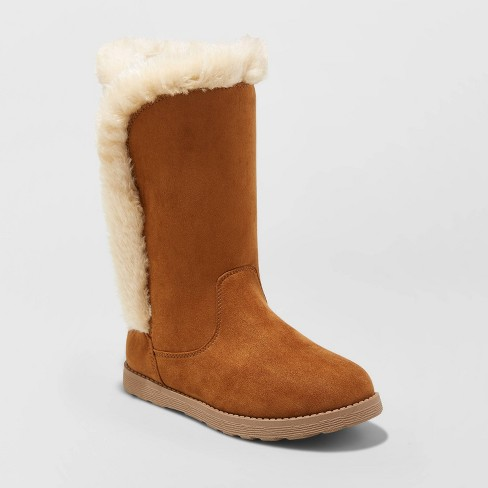 Girls' Hart Shearling Boots - Cat & Jack™ - image 1 of 3