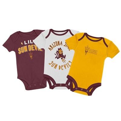 NCAA Arizona State Sun Devils Baby Boys' 3pk Bodysuit Set